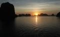 sunset halong