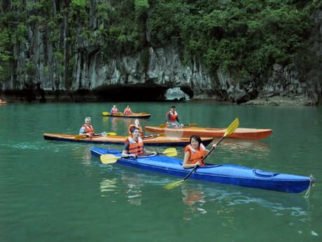 Kayaking on Halong Bay Vietnam