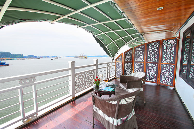 relax on sundeck halong cruise