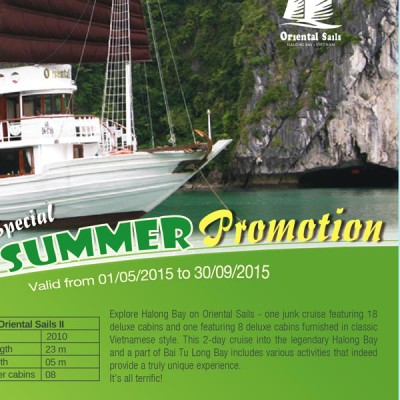 Summer 2015 Promotion – Oriental Sails Cruise