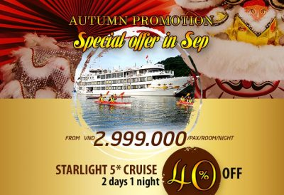Special Autumn offer (sep 2018) on Starlight 5* cruise