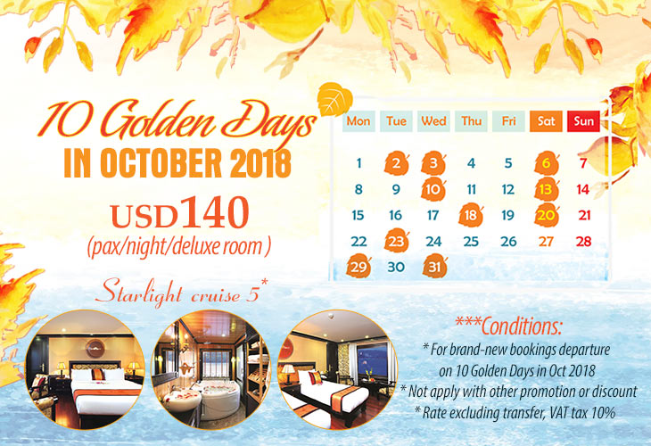 10 Golden days in Octorber 2018 on Starlight cruise
