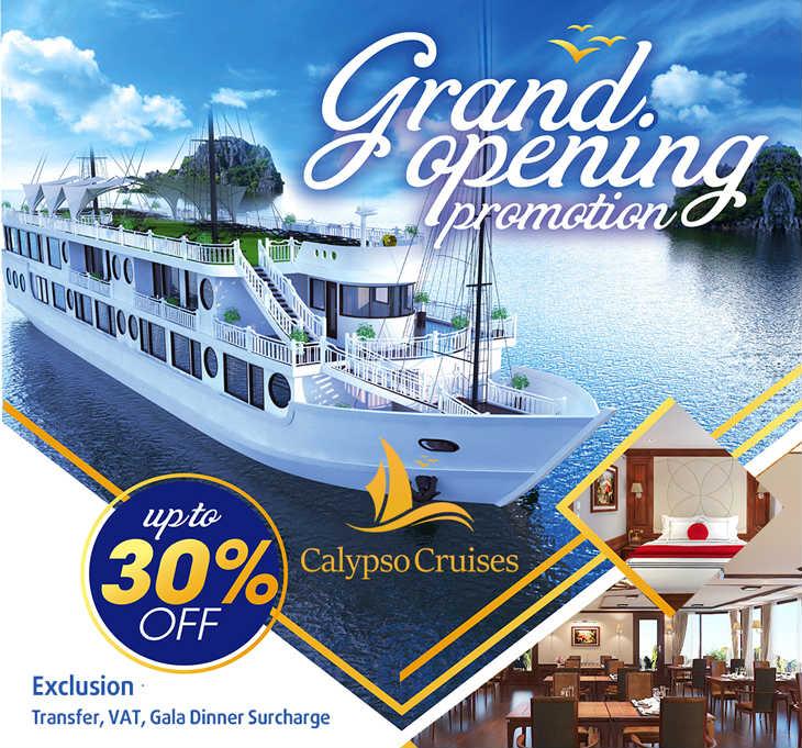 Calypso cruises Grand opening promotion