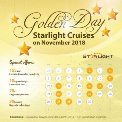 Golden Days – Starlight Cruise in November 2018