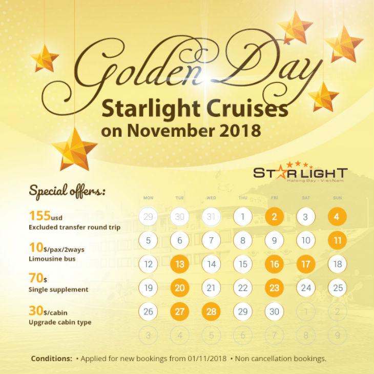 Starlight cruise Golden Days in Nov 2018