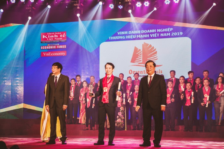 Oriental Sails received the Vietnamese Excellent Brand 2019.