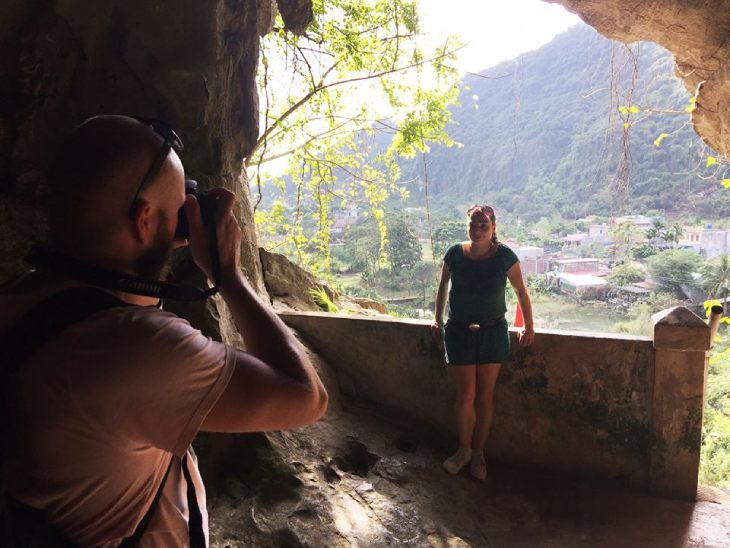 Quan Y Cave or Military hospital cave on Cat Ba Island, Lan Ha Bay